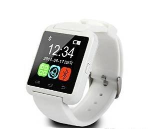 Smart Watch Smartwatch Phone U8 Bluetooth Orologio per Android Samsung S3, S4, S5, S6, S7, S7 edge, A5, A7, J5, Core Plus, Grand Prime, Note bianco
