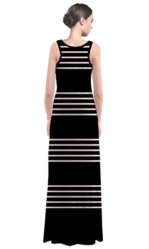 CowCow - Robe - Femme Multicolore Noir et blanc Black Chunky White Thin