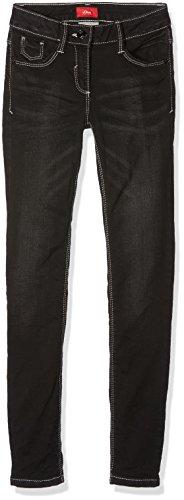 s.Oliver Mädchen Jeans 66.708.71.2951, Grau (Grey/Black Denim Stretch 98Z7), 140 (Herstellergröße: 140/SLIM)
