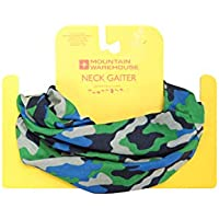Mountain Warehouse Boys Neck Gaiter - Breathable Snood Scarf, Quick Drying Neck Warmer, Convertible, One Size Balaclava -For Camping, Hiking & Travelling in Cold Weather