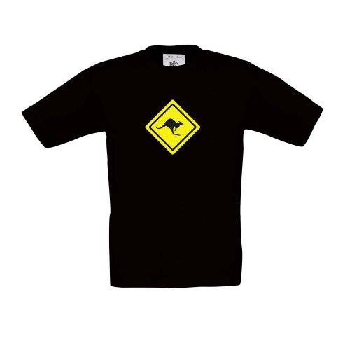 Australien Känguru Roadsign, Kinder T-Shirt, Größe 152 - -