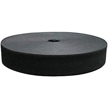 25/m long 25/mm de large bande de caoutchouc Weis ou noir noir