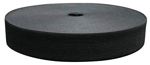 25 Meter Gummiband, 30 mm, schwarz