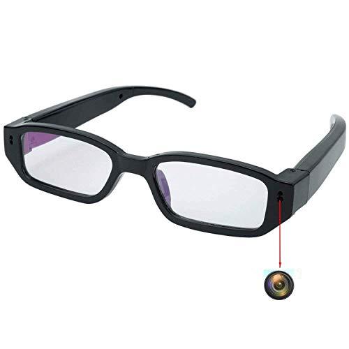 Mini Cam,Flylinktech HD Mini Spy Brille Versteckte Kamera Eyewear DVR Camcorder mit Versteckter Sport Kamera (Schwarz) (Brille Spy Kamera)