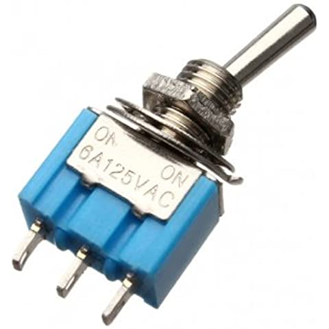 3 Pins Toggle Interruttore AC 125V 6A ON / ON