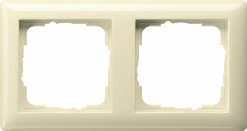 Gira Rahmen 021201 2fach Standard 55 cremeweiss, Cremefarben