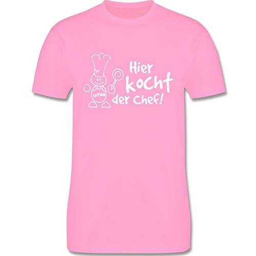 Küche - Hier kocht der Chef - Herren Premium T-Shirt Rosa