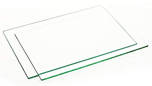 DUE LASTRE IN POLISTIRENE (PS - materia plastica) TRASPARENTI SIMILVETRO [confezione di 2 lastre uguali] ((1500 x 500 x 3) mm)