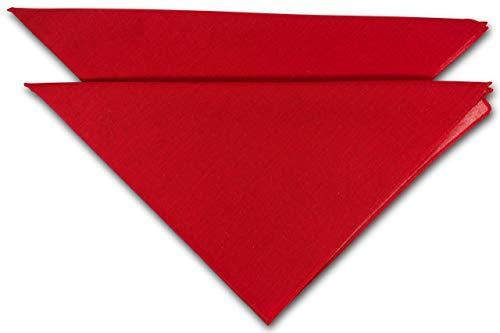 FashionCHIMP Nicki-Halstuch aus 100% Baumwolle im 2er Set, Unisex Bandana, AZO-Frei (Rot-Uni)