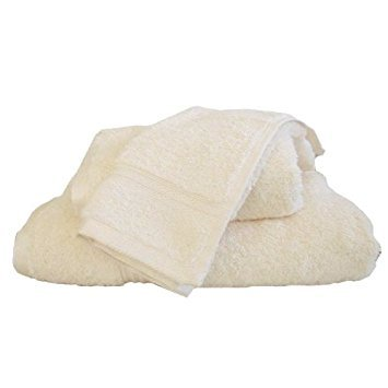 marrikas Ägyptische Baumwolle 2Stück Ohrhörer Waschlappen Set Elfenbeinfarben - Dick Ohrhörer