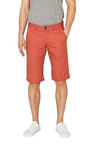 edc by ESPRIT Herren Shorts 999CC2C800, Orange (Burnt Orange 815), W29(Herstellergröße: 29)