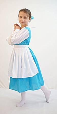 stage-world LIBRO day-beauty & LA BESTIA BELLE blu vestito con grembiule donna costume - da taglie da Small A Large - Come Mostrato, Women: 8-10