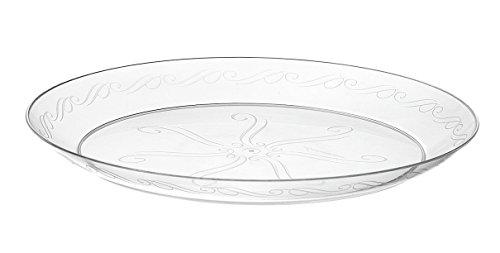 Pour Assiettes jetables en plastique transparent (22,9 cm -23 cm) emballage 1 x 20