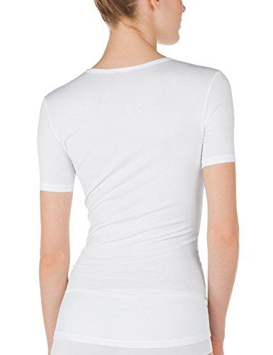 Calida Damen Unterhemd Top Kurzarm Balance Weiß (weiss 001)