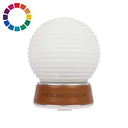 The.Diffuser - Multicolor Luftbefeuchter/Raumbefeucther, Aroma Diffuser & Aromatherapie mit LED Farben und Öl (6x10 ml)