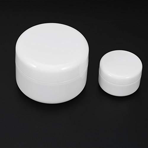 Récipient cosmétique en plastique pp rond vide de bouteille de pot de crème pour le petit échantillon de maquillage de beauté de sous-remplissage avec les capsules à vis -
