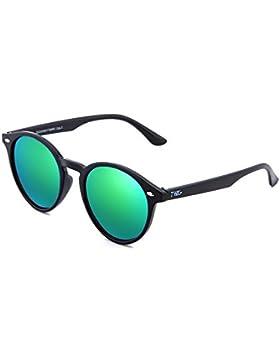 Gafas de sol TWIG POLLOCK redondo espejo hombre/mujer (Negro/Verde)