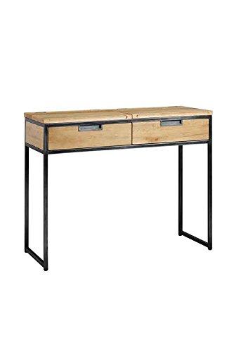 My-Furniture – Escritorio Industrial de Roble Macizo y Acero – Gama Qubix