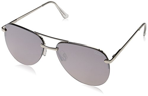 Quay Australia Damen THE PLAYA Sonnenbrille, Silver, 1