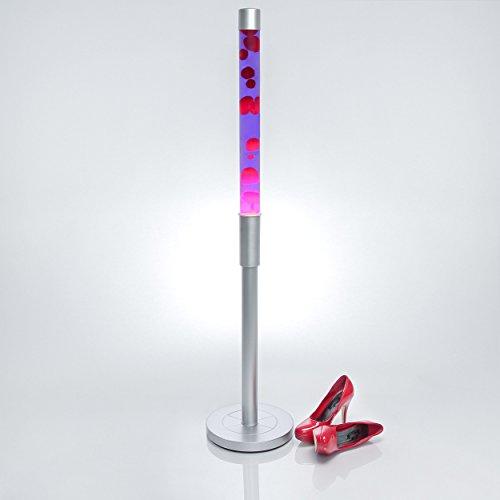 XXL lámpara de lava de la Fortuna Paul en lila rojo/1,28m de alto, incluye bombilla/con cable Interruptor/grandes lámpara de lava con para Momentos especiales
