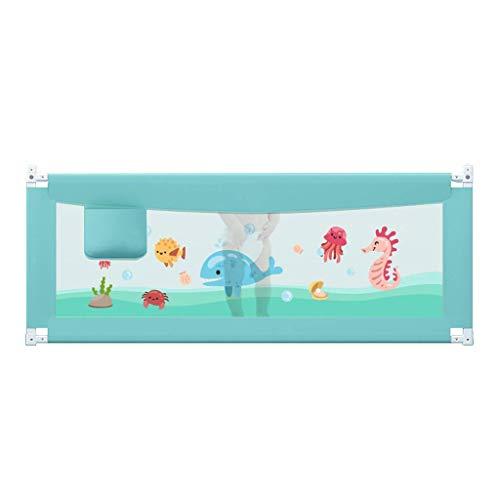 LGQZW Kinderbettschutzgitter - Doppelseitiger Krippenzaun Für Kinder - Tragbares Bettschutzgitter Für Kinder Größe Optional (Size : 180cm)