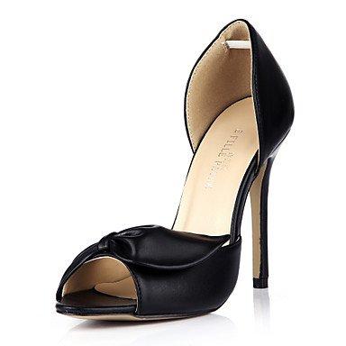 LFNLYX Donna Sandali Comfort estivo seta party di nozze & abito da sera Stiletto Heel Bowknot Bianco Nero Black
