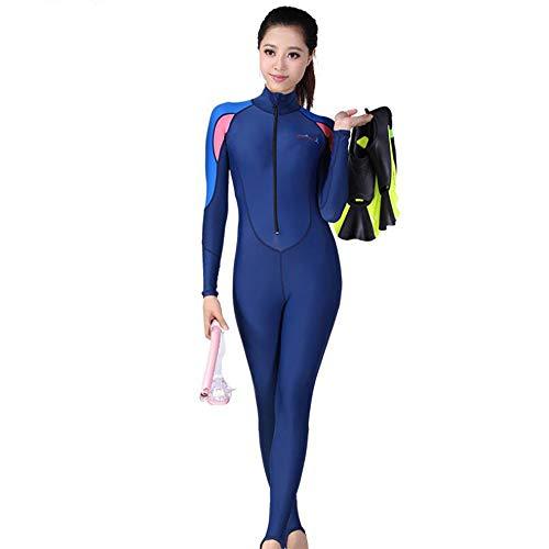 HUOFEIKE 1mm Neopren-Neoprenanzug für Damen, Einteiliger Surf-Tauchanzug für Männer Schwimmen/Triathlon-Tauchen/für alle Wasserprojekte,Woman,M