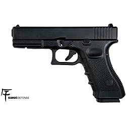 Saigo Airsoft - Pistolet 17 Noir Co2 -Semi Automatique -Culasse Mobile en métal blowback- Puissance 0.5 Joule
