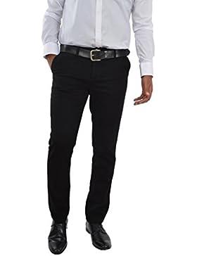 Herren Chino Hose Straight Leg Business gerader Regular Schnitt Jeanshose Chinohose Reißverschluss