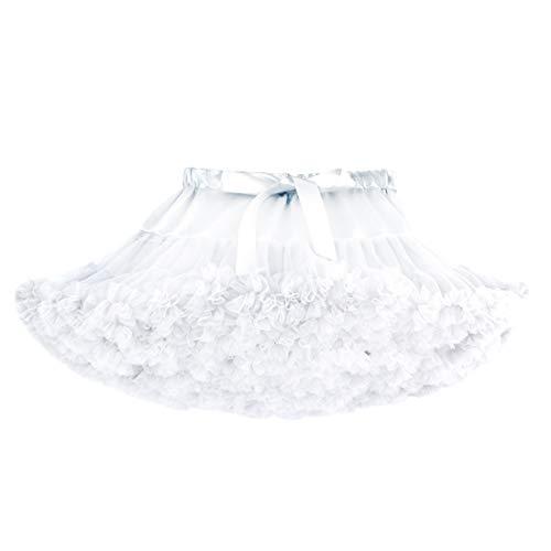 DoGeek Tüllrock Kinder Tütü Rock Kurz Ballet Tanzkleid Unterkleid Cosplay Petticoat Kleid ()