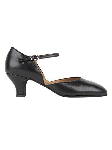 Rumpf Damenschuhe, Leder, Abs. 5,5 cm Black