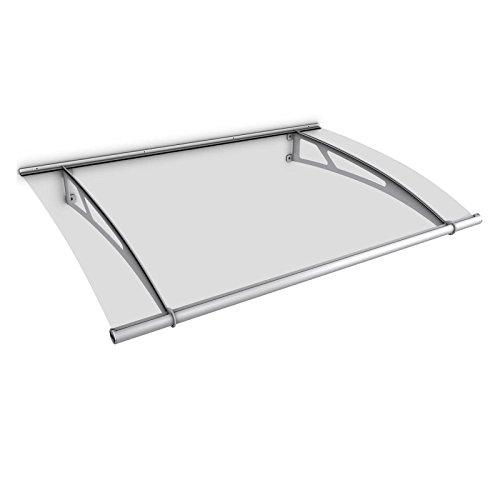 Schulte Vordach 205x142 cm Haustür Überdachung Edelstahl rostfrei Acrylglas durchgehend und...