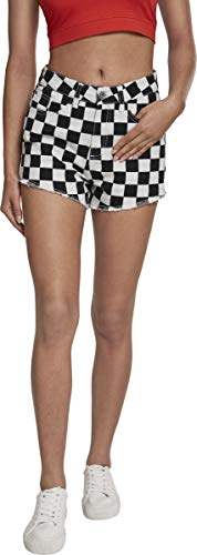 Urban Classics Damen Ladies Check Twill Hot Pants Hose, Mehrfarbig (Chess 01683), W26 -