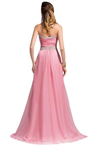 Sunvary Beidesmaid formale strass della linea Sweetheart Chiffon abito da sera per donna Viola