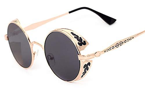 Tiadi Brillen Dekogläser Ideal Radbrille Terminator Gothic Viktorianischen Stil Cosplay Sonnenbrille Linsen Luxus Oversized Runde Verspiegelt
