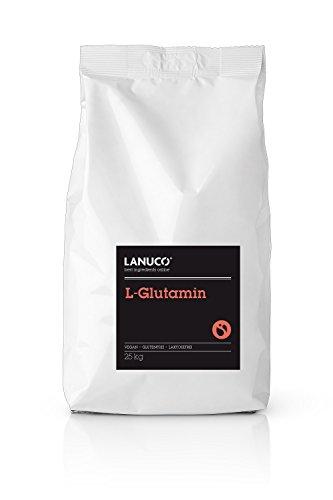Für Sportler Lebensmittel (L-Glutamin 25kg - Aminosäure rein und ohne Zusatzstoffe Pulver geschmacksneutral Muskelerhalt und Regenaration)