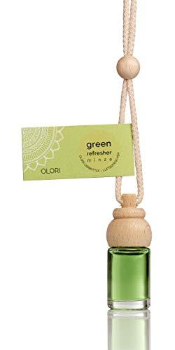 Olori Auto Duft (4X) 8 ml Parfüm Minze - Lufterfrischer als Anhänger -