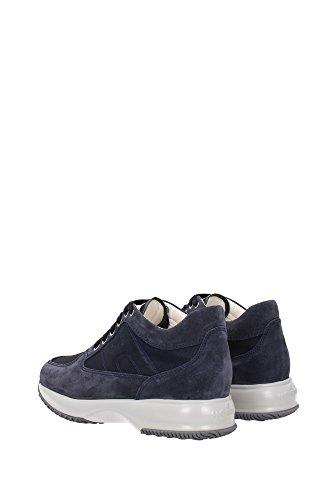 HXM00N00E10R2Y9999 Hogan Sneakers Uomo Tessuto Blu Blu