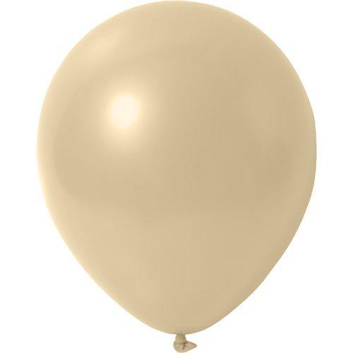 Preisvergleich Produktbild 25 x Luftballons Metallic (Glänzend) Ø 30 cm | Freie Farbauswahl | 23 Ballon Farben | partydiscount24® (Creme)