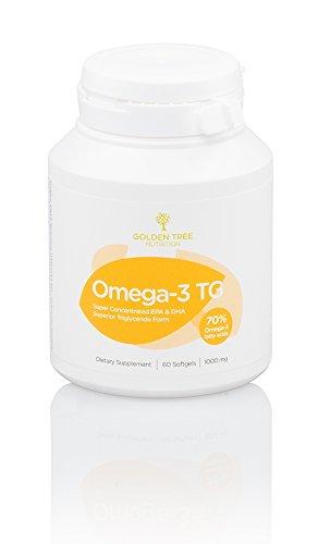 Hohe Omega 3 (Omega-3 Fischöl, 2000mg | Hohe Konzentration an EPA (800mg) & DHA (400mg) | Hochwertige Triglycerid-Form (TG) | Höchste Fischöl-Reinheit | 60 Kapseln | Prüfung der Reinheit & Wirksamkeit durch Dritte)