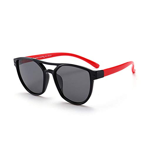 Wang-RX Baby Square Sonnenbrille Kids Polarized Kinder Ultra-weiche Retro-Brille UV400 16colors
