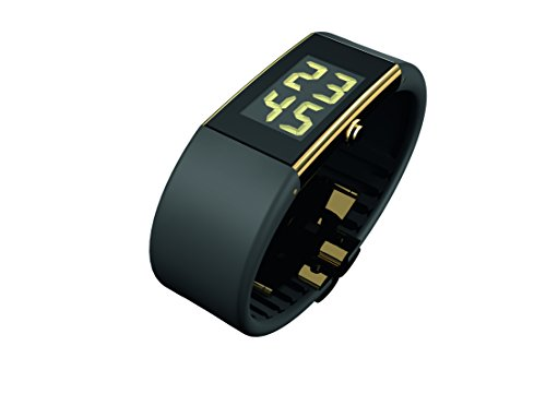 Rosendahl Ladies Digital Watch II 43125 Black with Gold Plating Case and Black Polyurathane Strap