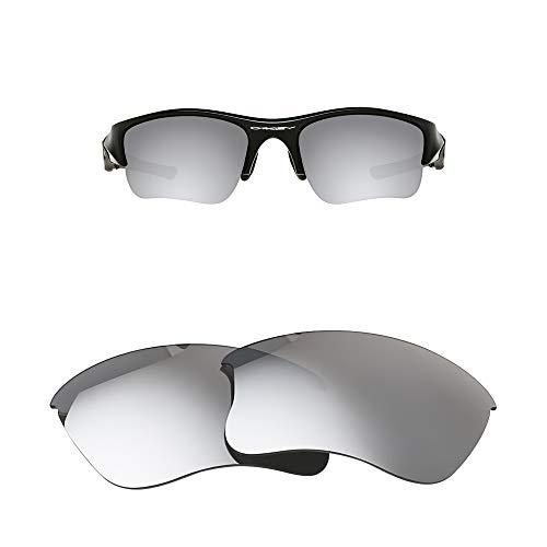 Oak&ban Spiegelpolarisierte Ersatzgläser für Oakley Flak Jacket XLJ Sonnenbrille, Verschiedene Optionen, mit Brillentuch, Herren, Black Iridium - Polarized