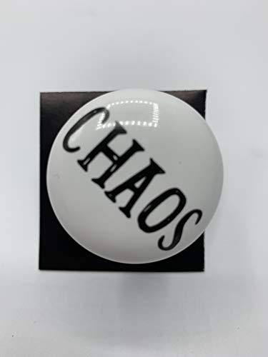 Möbelknopf Möbelgriff Landhaus Weiss Antik Schrift Chaos 6 cm