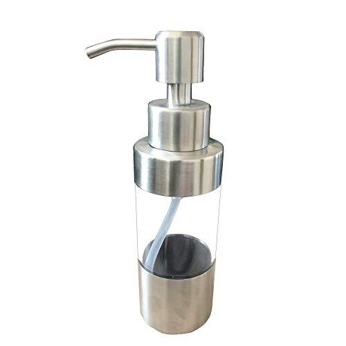 SODIAL Seifen Spender Acryl Handbuch 304 Edelstahl Bad Dusch Pumpe Emulsions Spender Fluessigkeits Flasche - Acryl-emulsion