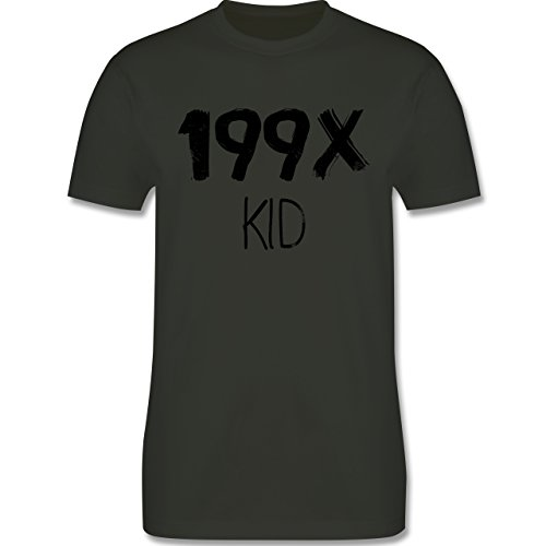 Statement Shirts - 199X KID - Herren Premium T-Shirt Army Grün