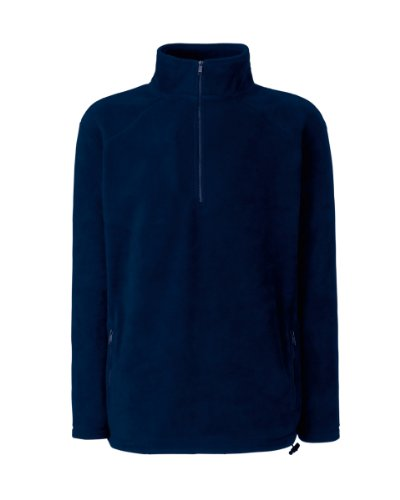 Fruit of the Loom Half Zip Outdoor Fleec Blau - Dunkles Marineblau