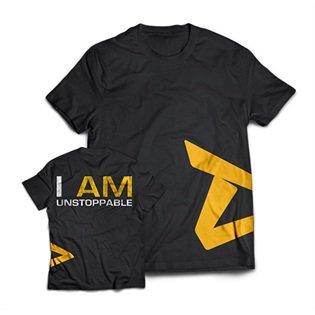 "Dedicated Nutrition Herren ""Unstoppable T-Shirt, Schwarz / Gelb, L"