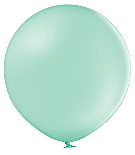 Belbal Latex-Luftballons, 60 cm, rund, Hellgrün, 2 Stück