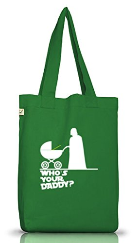 Shirtstreet24, WHO'S YOUR DADDY? Jutebeutel Stoff Tasche Earth Positive (ONE SIZE) Moss Green